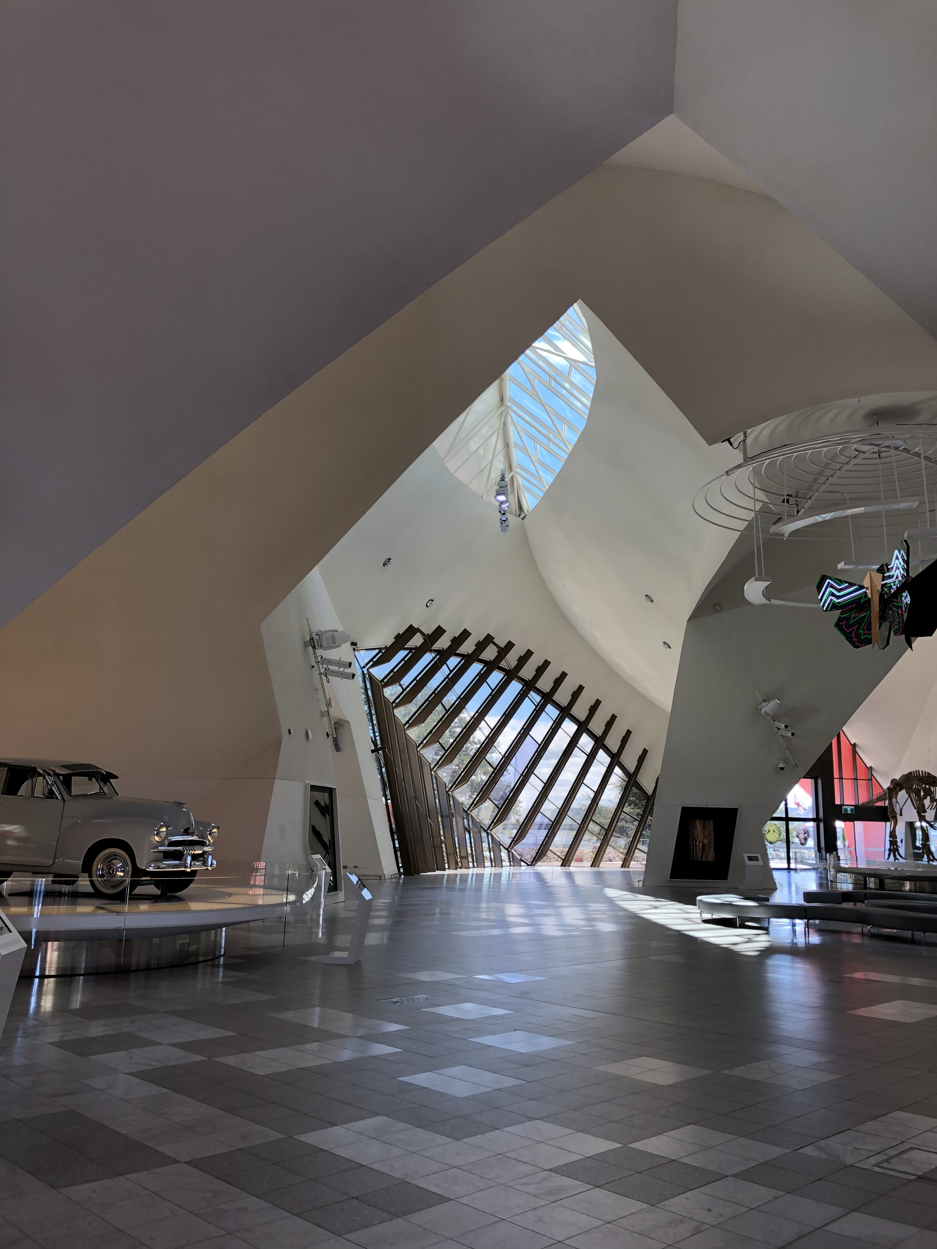 View of the open foyer of the National Museum of Australia depicting the inside of a knot