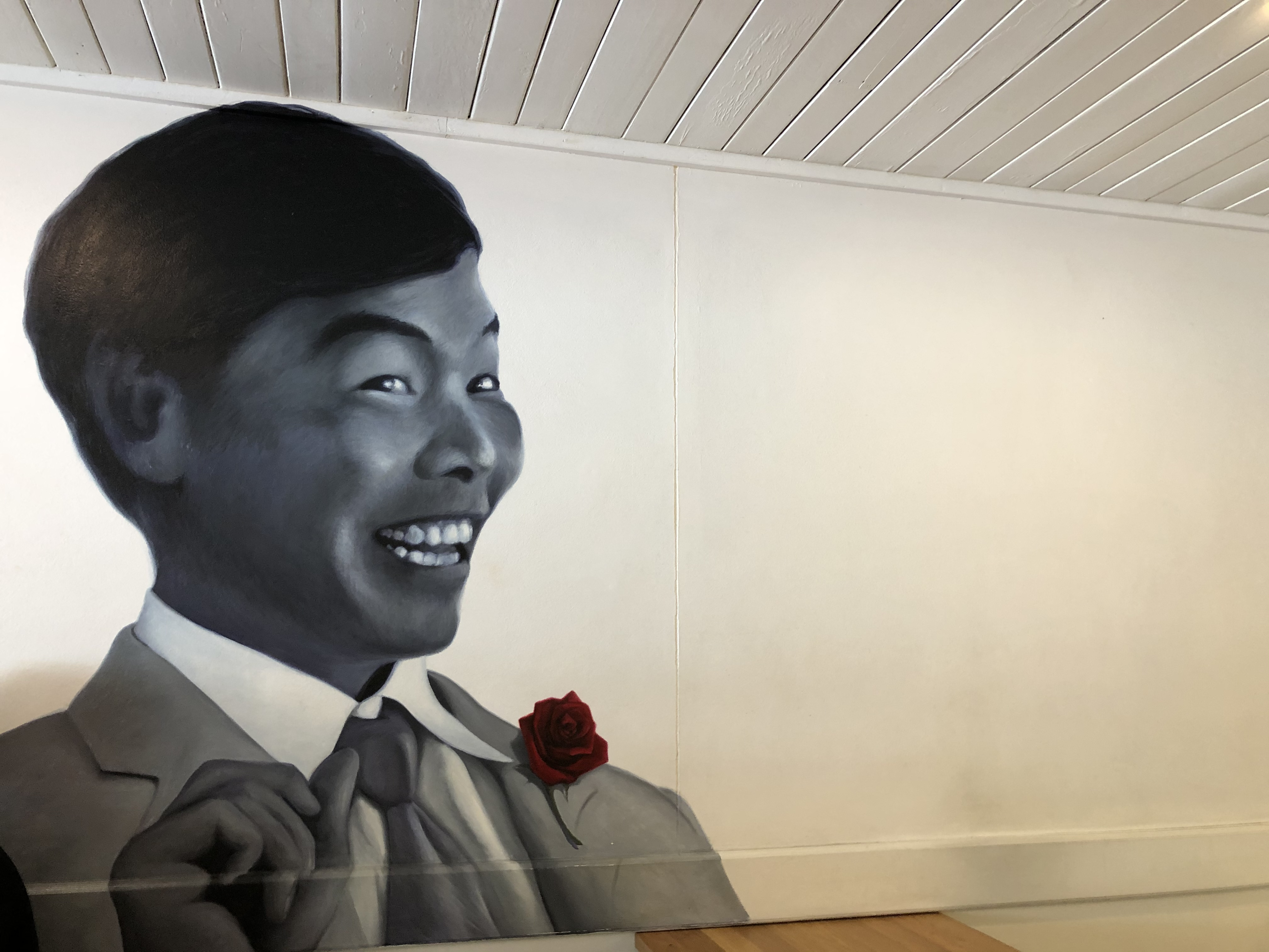 Jimmy Wah looking over diners at his restaurant in Burleigh Heads