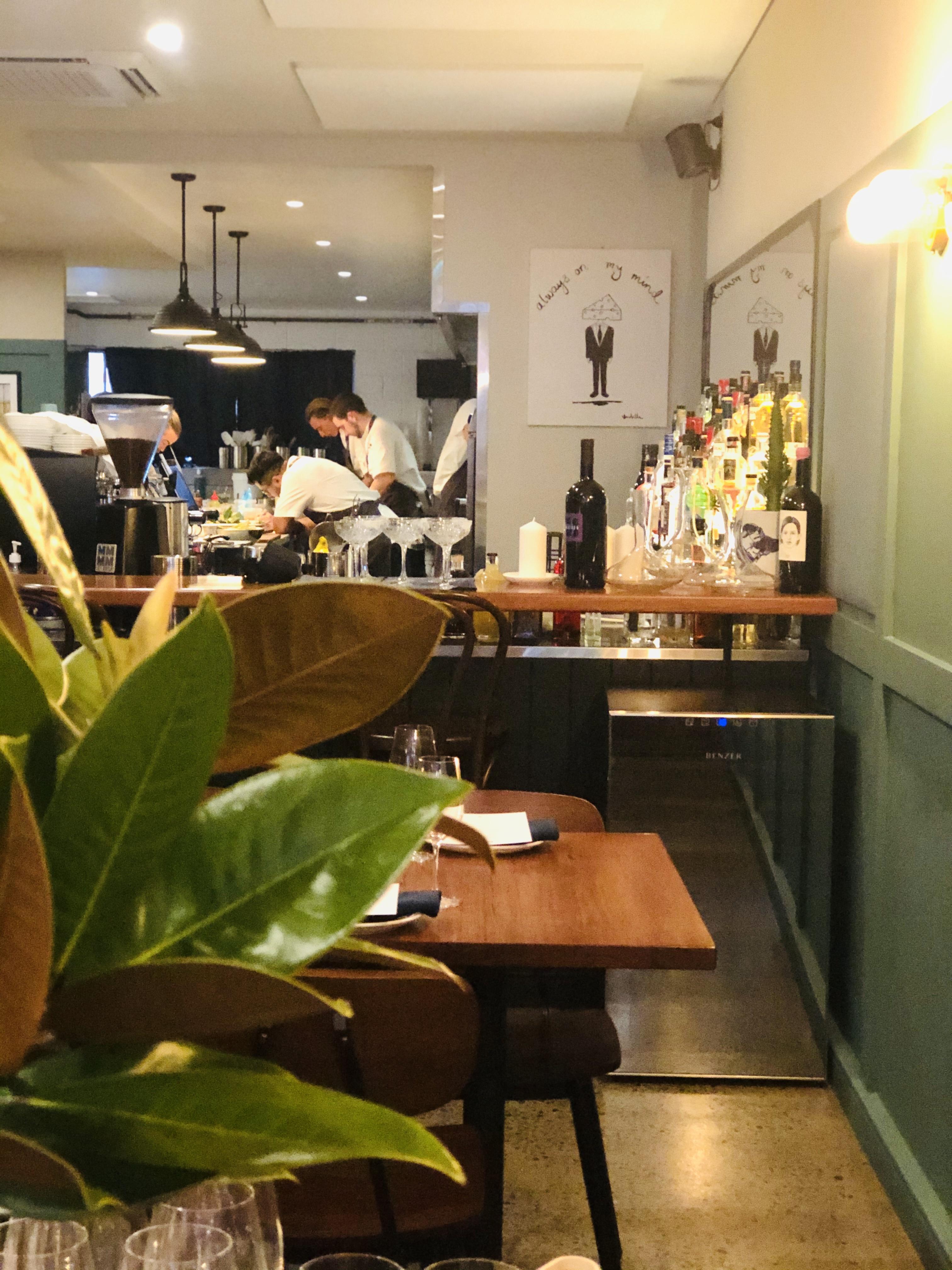 Kitchen staff at work at Labart Restaurant in Burleigh Heads
