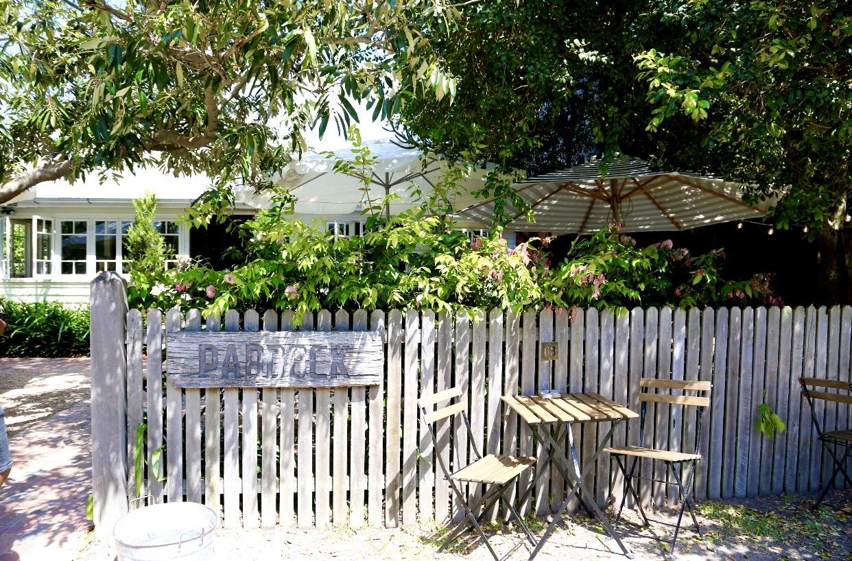 Picket fence at Paddock Bakery at Miami Beach